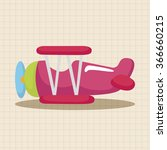 transportation airplane theme... | Shutterstock .eps vector #366660215