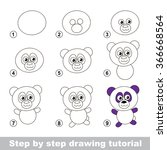 step by step drawing tutorial....   Shutterstock .eps vector #366668564