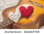 love hearts on the guitar  ... | Shutterstock . vector #366669785