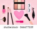 makeup overhead fashion woman... | Shutterstock . vector #366677339