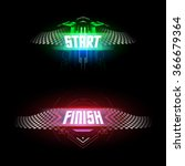 futuristic start and finish... | Shutterstock .eps vector #366679364