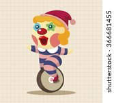 clowns theme elements | Shutterstock .eps vector #366681455