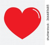 heart icon illustration sign... | Shutterstock .eps vector #366685685