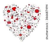 beautiful heart. happy... | Shutterstock .eps vector #366687494