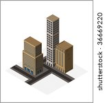 isometric buildings  vector | Shutterstock .eps vector #36669220