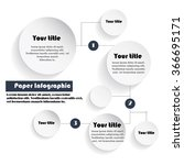 abstract paper info graphic.... | Shutterstock .eps vector #366695171