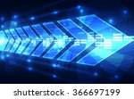 abstract vector future speed... | Shutterstock .eps vector #366697199