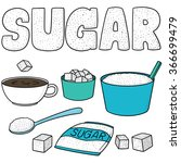 vector set of sugar | Shutterstock .eps vector #366699479