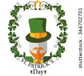greeting frame st patricks day... | Shutterstock .eps vector #366702701