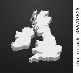 uk  map in gray on a black... | Shutterstock .eps vector #366706829