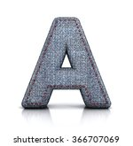 a letter  from font of denim ...   Shutterstock . vector #366707069