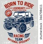 vector vintage sport racing car ... | Shutterstock .eps vector #366708611