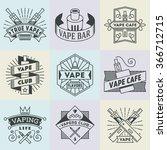 assorted vape logotypes set 2....   Shutterstock .eps vector #366712715