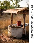 Simple Well In Ukrainian Country