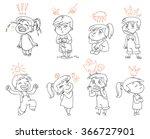 basic emotions. mad  sad  glad  ... | Shutterstock .eps vector #366727901