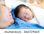 asian mother with newborn baby... | Shutterstock . vector #366729665