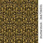 damask seamless pattern... | Shutterstock .eps vector #366736031