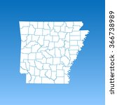map of arkansas | Shutterstock .eps vector #366738989