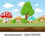 landscape for game.background ... | Shutterstock .eps vector #366743555