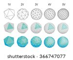 set of geodesic spheres icons | Shutterstock .eps vector #366747077