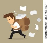 businessman carrying documents  ... | Shutterstock .eps vector #366751757
