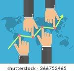 market manipulation concept in... | Shutterstock .eps vector #366752465
