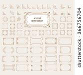 big set of art deco frame ... | Shutterstock .eps vector #366756704