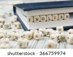 word english made with block...   Shutterstock . vector #366759974