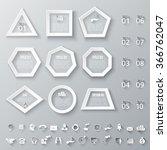 set of geometric shapes for...   Shutterstock .eps vector #366762047