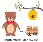 Teddy With A Wheelbarrow And...