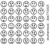 set of emoticons. isolated... | Shutterstock .eps vector #366772325