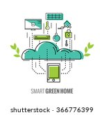 smart phone control the home.... | Shutterstock .eps vector #366776399