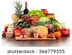 variety of organic food... | Shutterstock . vector #366779555