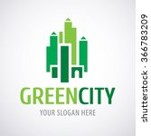 green city logo design... | Shutterstock .eps vector #366783209
