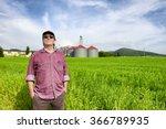 Farmer And Silos