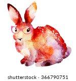 hipster gentleman rabbit with... | Shutterstock . vector #366790751