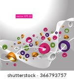 abstract vector background with ... | Shutterstock .eps vector #366793757