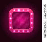 retro square  banner with... | Shutterstock .eps vector #366794435