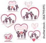 family. love of parents to the... | Shutterstock .eps vector #366795491