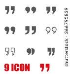 vector grey quote icon set. | Shutterstock .eps vector #366795839