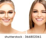 contouring.make up woman face....   Shutterstock . vector #366802061