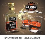 alcohol drink was pour in two... | Shutterstock .eps vector #366802505