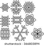 set of ornate vector celtic... | Shutterstock .eps vector #366803894