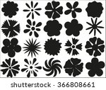 Silhouettes Of Flowers On A...