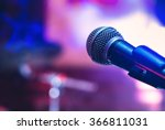 microphone at concert | Shutterstock . vector #366811031