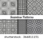 set of 6 abstract patterns.... | Shutterstock .eps vector #366811151