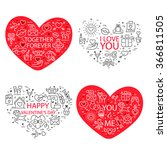 happy valentine's day greeting... | Shutterstock .eps vector #366811505