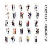 clerks compilation people... | Shutterstock . vector #366813635