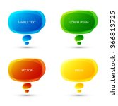 set of vector colorful speech... | Shutterstock .eps vector #366813725