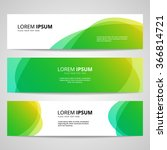set of vector banners design... | Shutterstock .eps vector #366814721